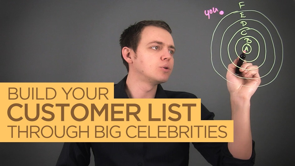 Build Your Email / Customer List with Celebrities