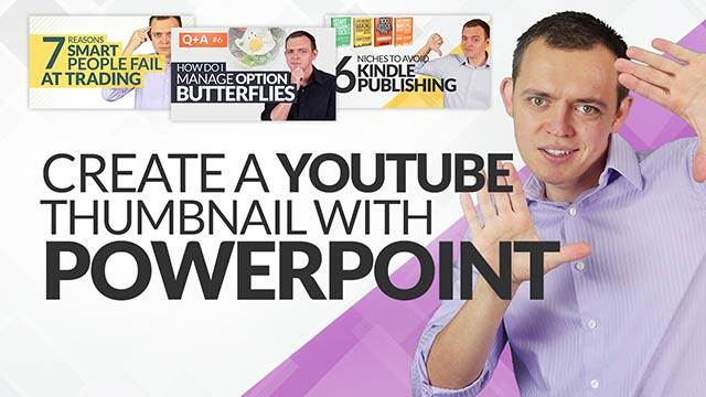 How To Make YouTube Thumbnails For Free Using Powerpoint (Simple, Easy, + Fast) #BSI 5
