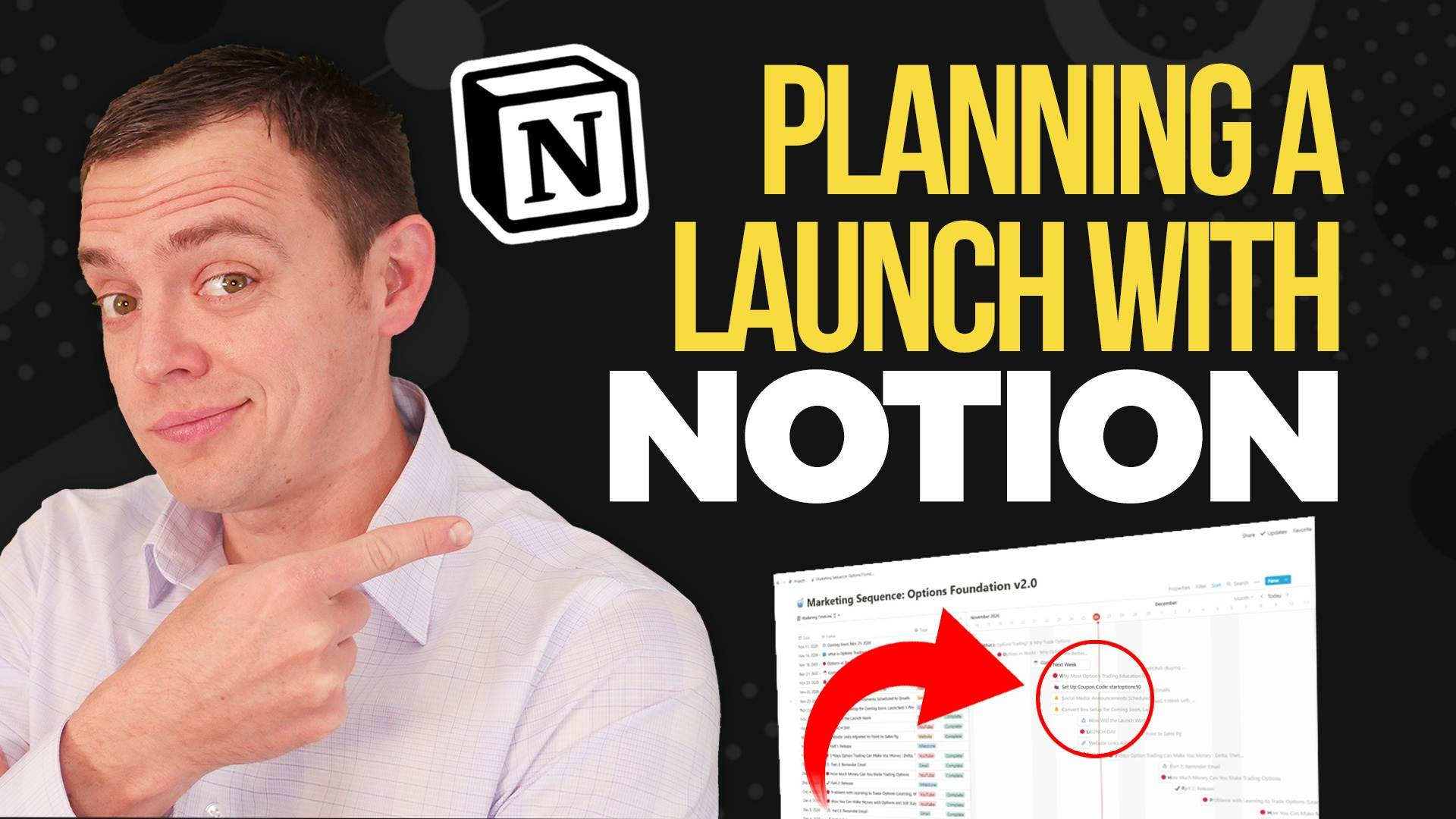 How I Plan and LAUNCH Video Courses Using Notion